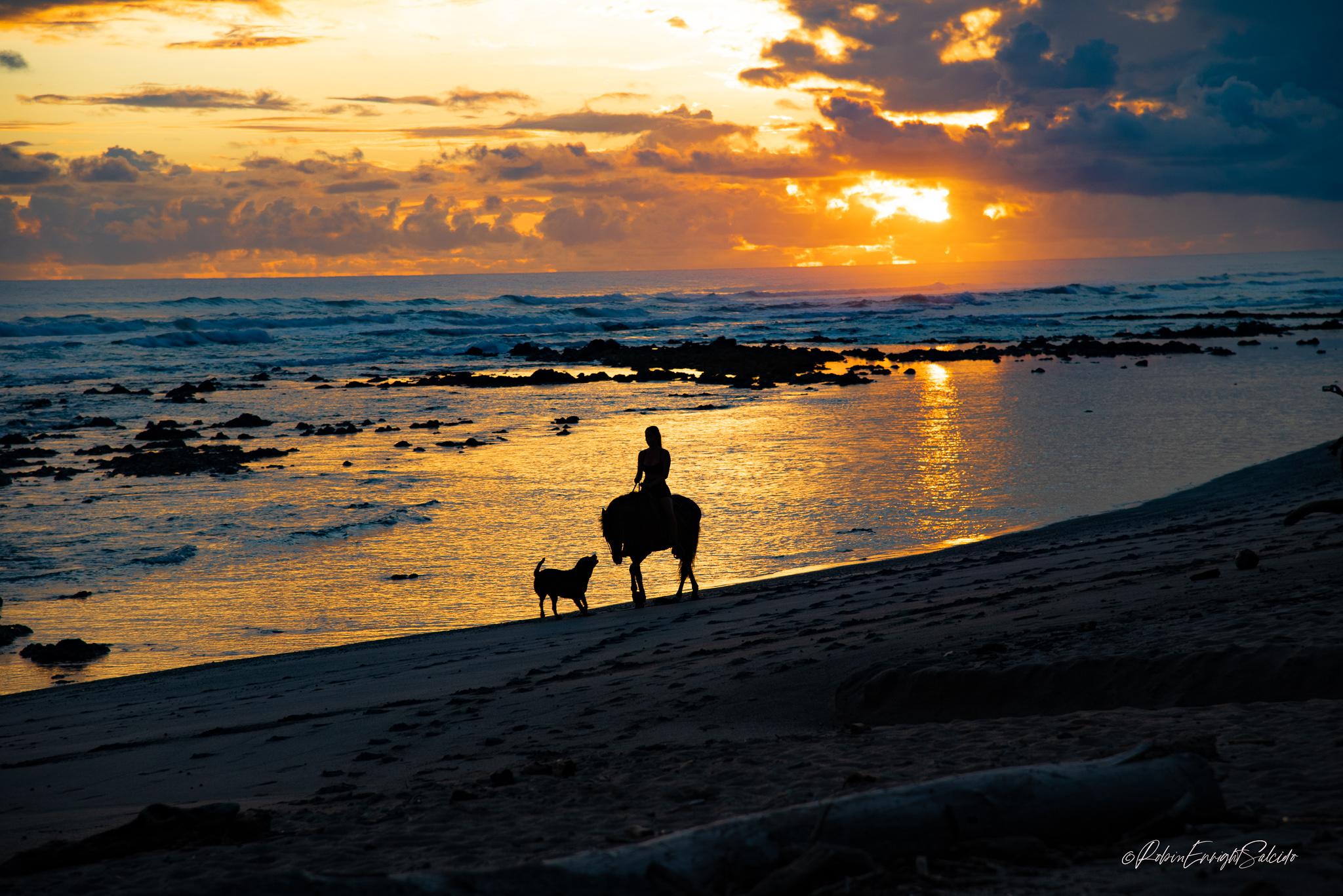 Ride-on-the-beach